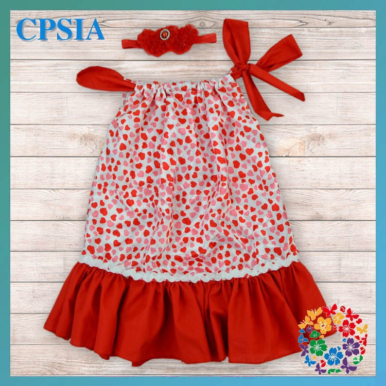 2014 New Design Fashion Baby Dress White Red Heart Clothing Kids ...