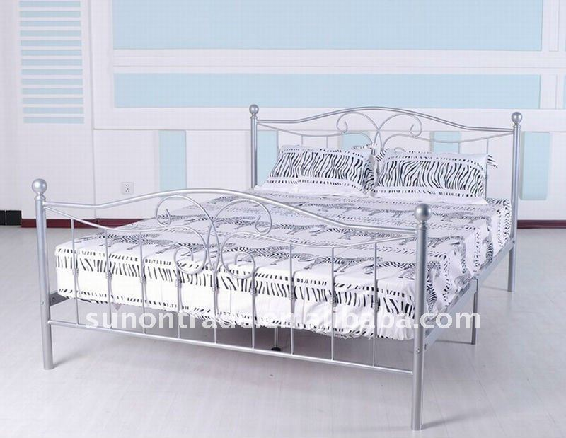 Metal double bed for Double bed new design