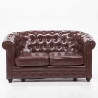7 Seater Sectional Cowhide Leather Living Room Hotel Lobby Sofa Set