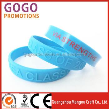 Custom Made Silicone Wristbands With Logo Bracelets No Minimum Order