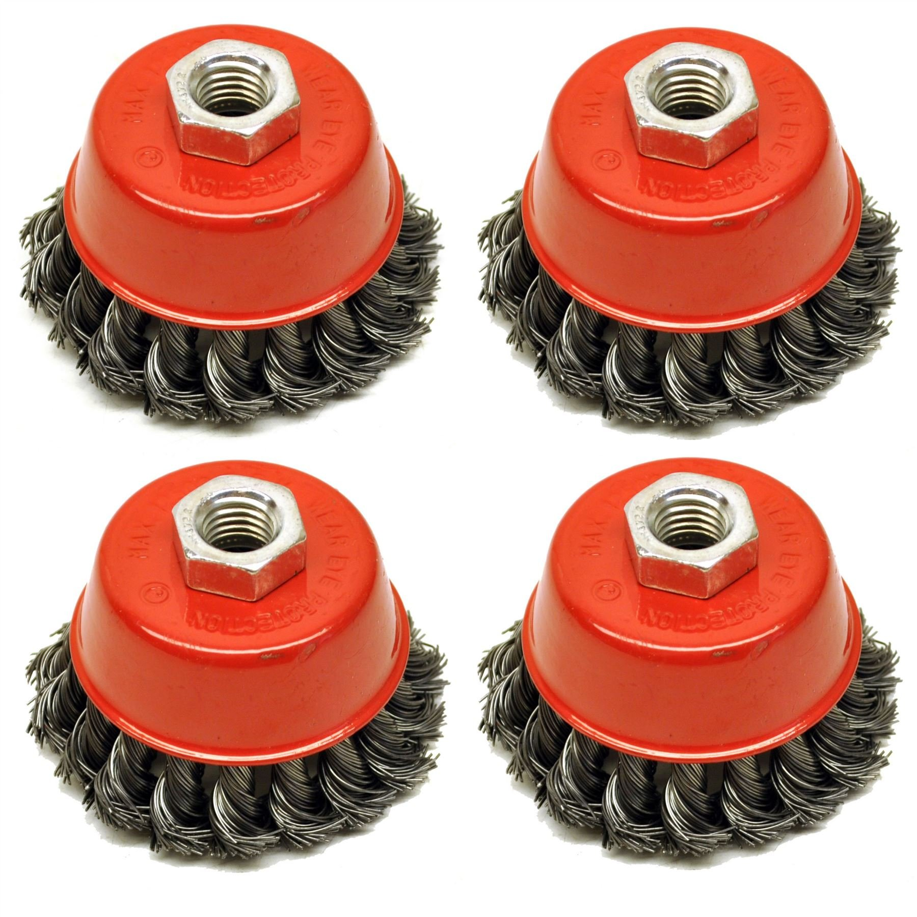 """2pcs  Premium2-3//4/"""" Knotted Cup Wire Brush with M14 Thread for Angle Grinder"""