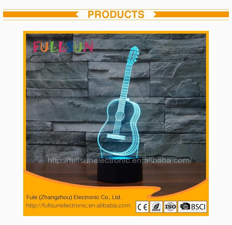 Guitar Design 3d Bulbing Magical Lamp Fs-3272 - Buy Bulbing ...