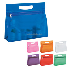 Wholesale Fashion PVC Ladies Travel Cosmetic Vanity Toilet bag with Zipper