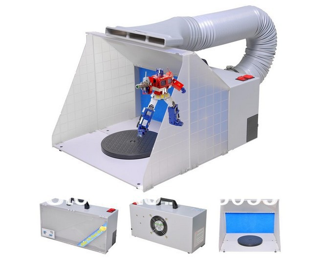 Portable Hobby Airbrush Paint Spray Booth Kit Exhaust