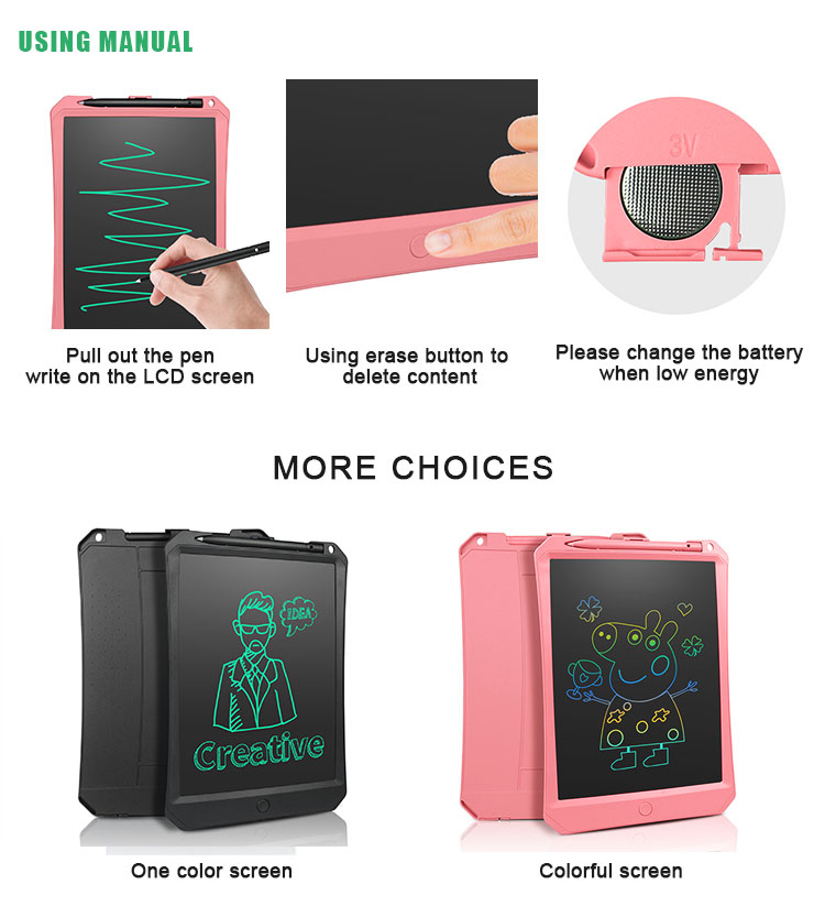 Hot Sale 10.5 Inch Magic Notepad Electronic Digital Writing Board LCD Drawing Tablet For Kids