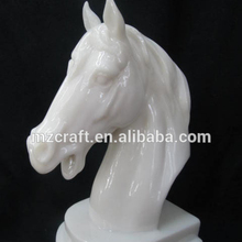White Jade small horse head crafts business gifts Y8022