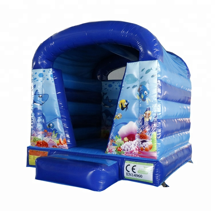 High Quality 3.8 X 3m Sea World Theme Bouncy Castle Inflatable Bounce House For Sale