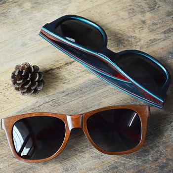 1b31dfdb0800b7 Summer style à la main vintage planche à roulettes en bois lunettes de  soleil polarisées femme