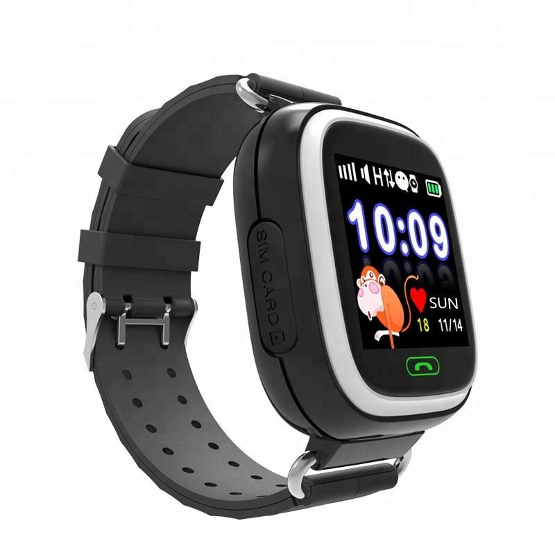 2017 hot selling 1.2 inch touch screen sos calling kids security smallest gps tracker smart watch
