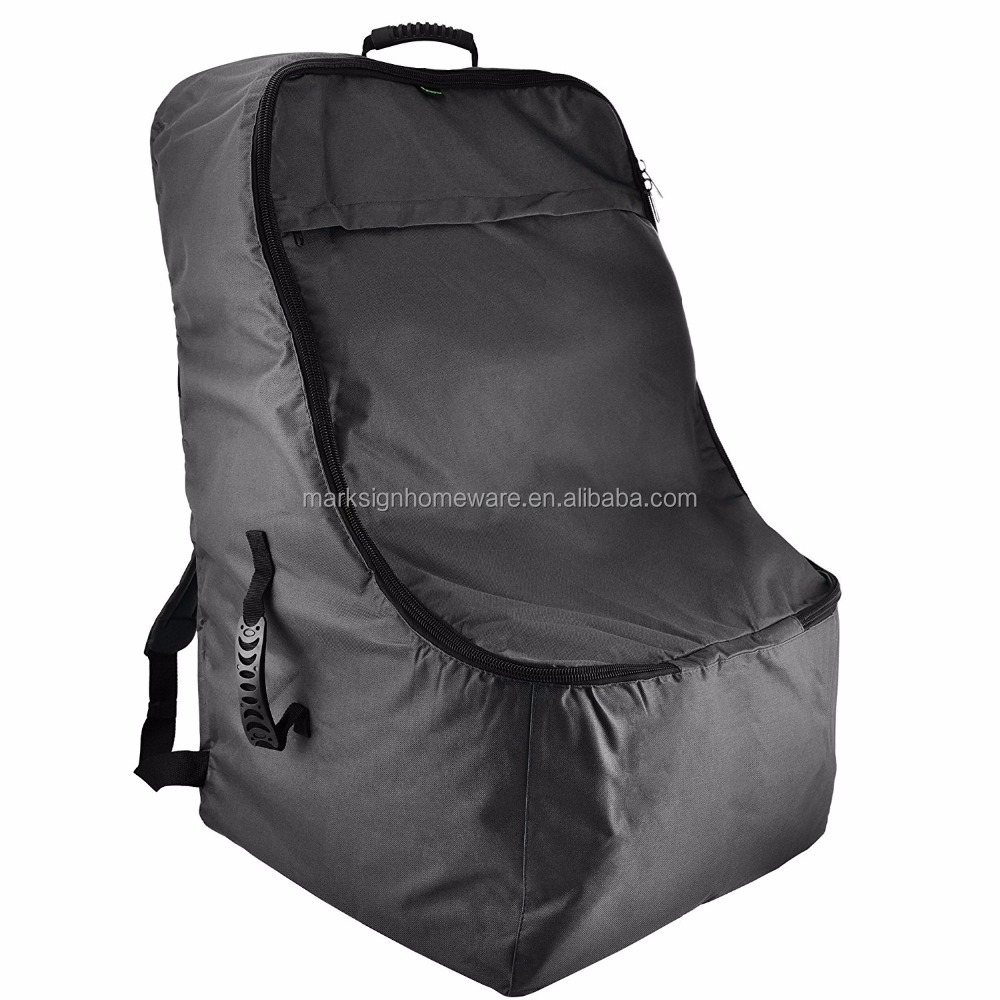 Ballastic Nylon Car Seat Gate Check Bag With Padded Shoulder Strap
