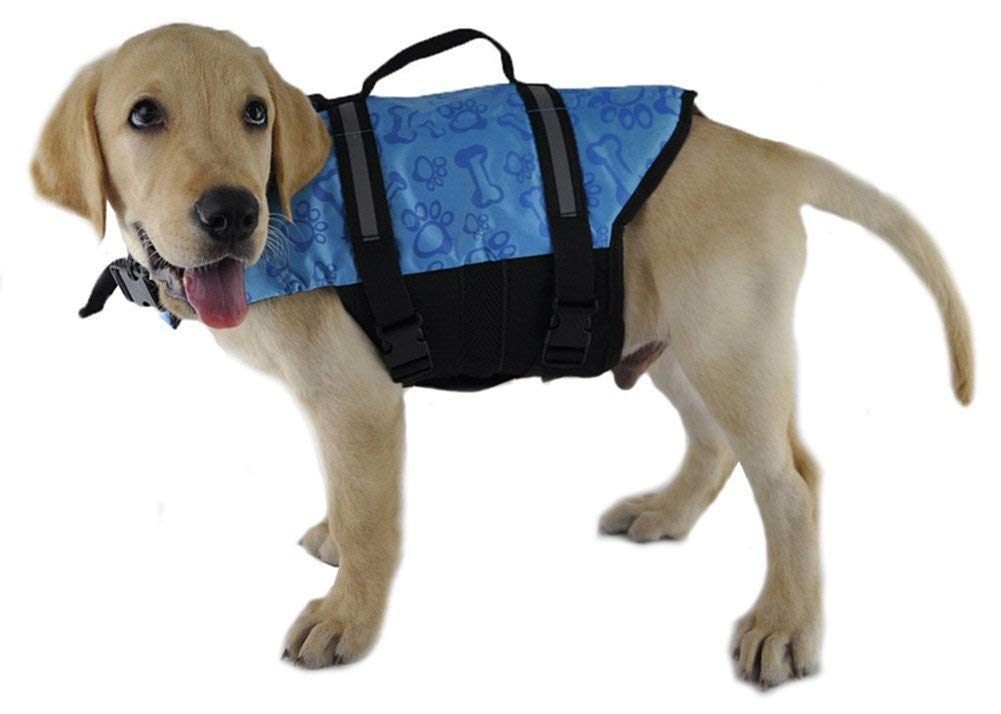 Pet Lifejackets,PETGADS Pet Life Jackets,Reflective Pet Preserver Aquatic Safety Vest,Float Coat Life Jacket for Dogs,Professional Pets Swimming Training Clothes
