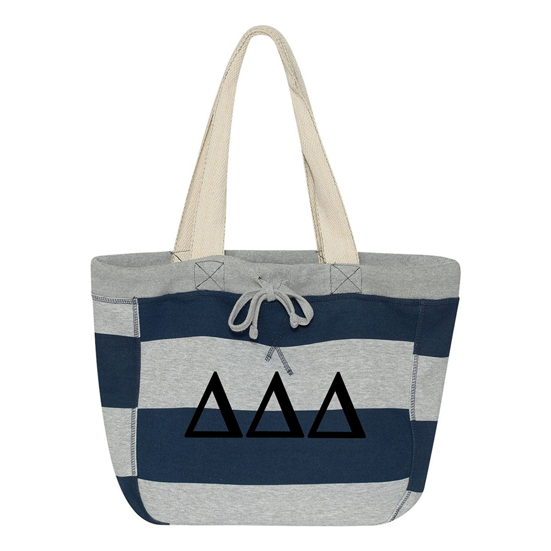 Delta Delta Delta Striped Beachcomber Tote Bag