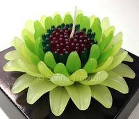 handmade flower candles 5 inch art spa deco - gerbera