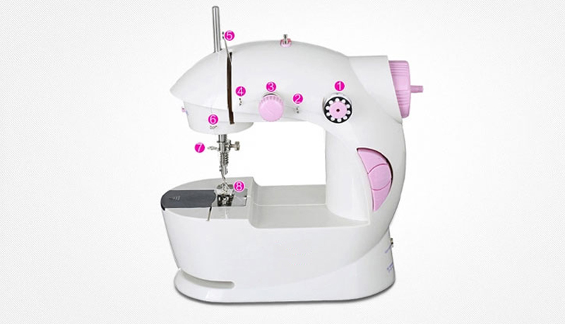 Mini electric household sewing machine table stand