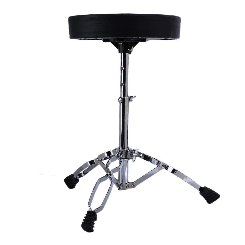 59f682fac64 Get Quotations · Deluxe Drum Throne Thick Padded Seat, Height Adjustable  Drum Stool With Sturdy Tripod Base Anti