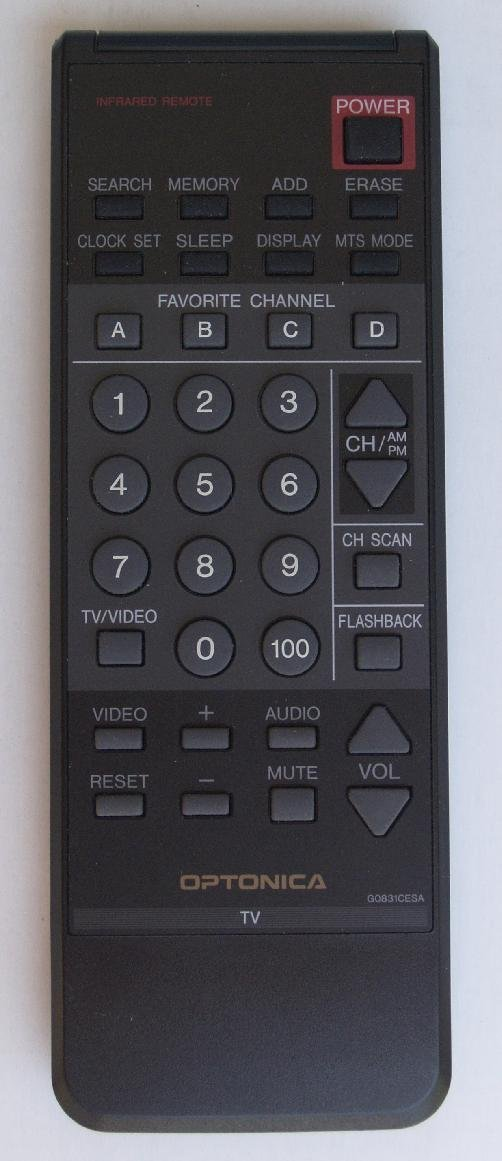 Sharp Remotes for DVD-VCR-TV-Audio-Stereo and or Compact Disc Systems (SHARP G0831CESA)