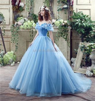 Elegant Princess Ball Gown Off Shoulder Cinderella
