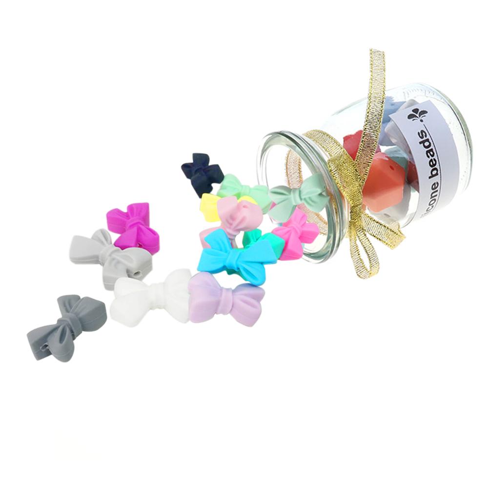 Wholesale loose BPA Free Custom Food Grade Baby Chew teether Soft Silicone Beads