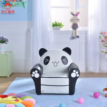 Kids Cartoon Sofa With Lovely Panda Moder Sofa And Single Sofa Chair For  Mini Kids Sofa