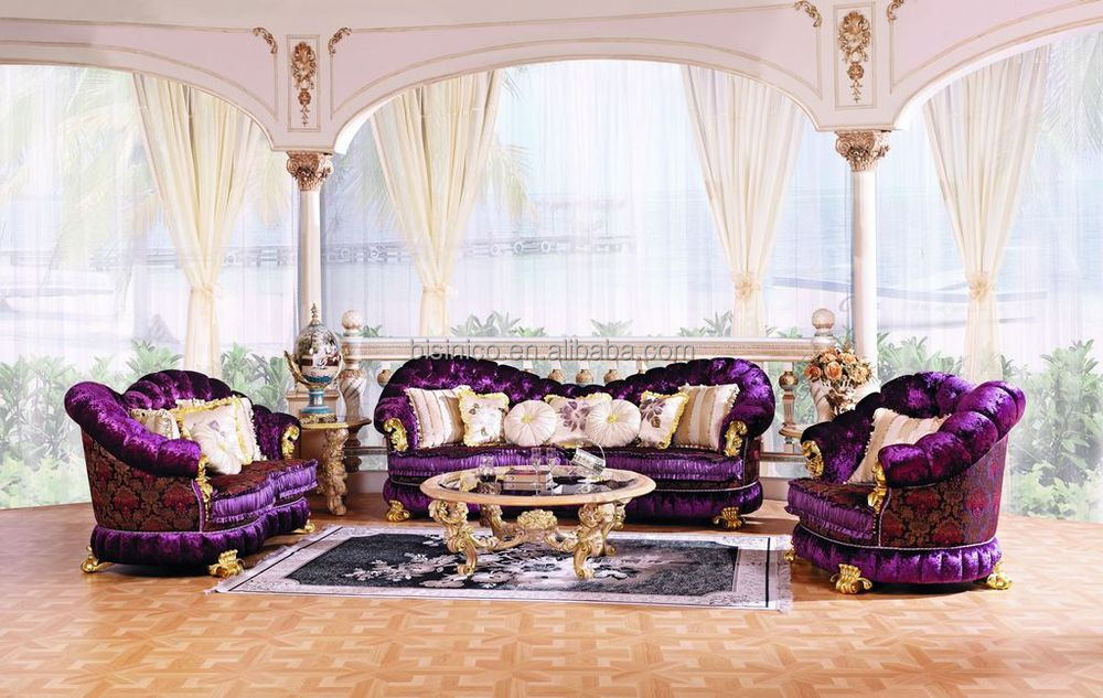 Luxury baroque style living room furniture sofa set for Whole living room furniture sets