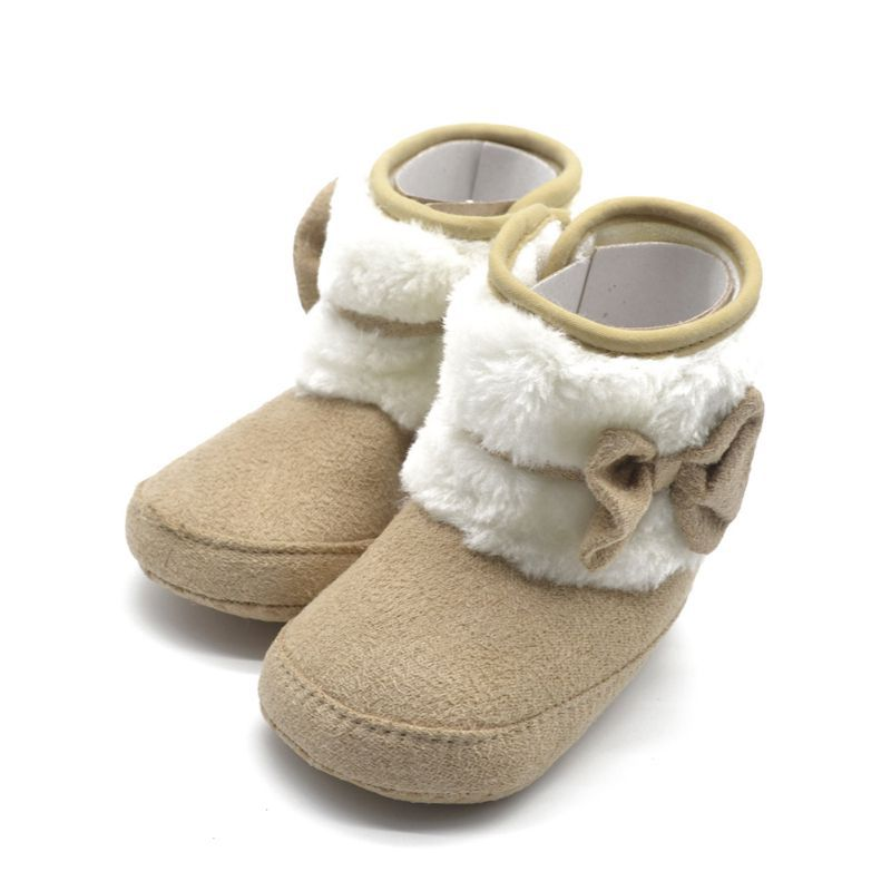 Infant Baby Winter Knit Fleece Boots Toddler Girl Wool Snow Crib Shoes Booties