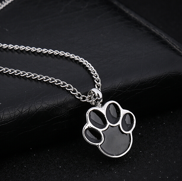 Wholesale Memorial Ash Pendant Silver Urn Necklace American Japan pets paw Cremation Jewelry