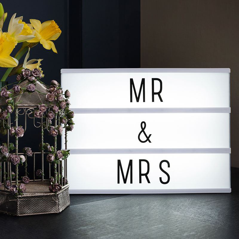 Acrylic A4 Size Letter Display Light Box