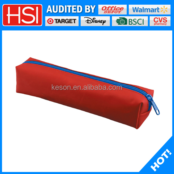 polyester fabric assorted color red zipper lock pencil cases & bags