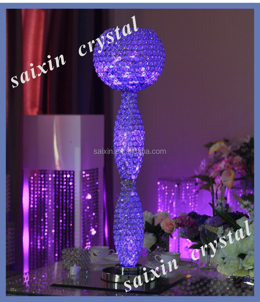 Gorgeous led light with remote control wedding centerpieces