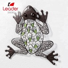 Hot Selling Hand painted Glow in Dark Metal Frog Wall Art Decor