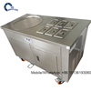 Japan compressor thailand single pan fried ice cream roll machine with 6 bucket 1+6 model