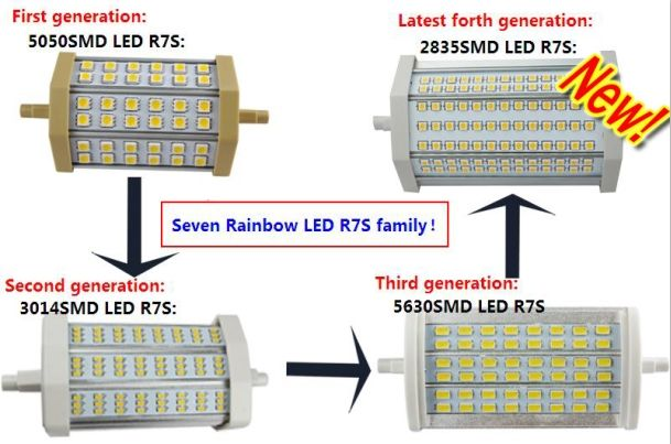 Replacement Of Double Ended R7s Linear Halogen Lamp,R7s Halogen ...