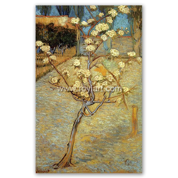 ROYI ART Van Gogh Oil Painting handing on wall decor of Pear Tree in Blossom