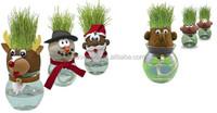 Santa Claus Growing Grass Head fashion doll head grass doll