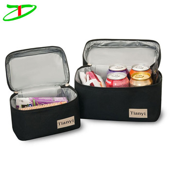 Set of Two Sizes peva liner insulated bag for frozen food,lunch insulated freezer bag for adults and children