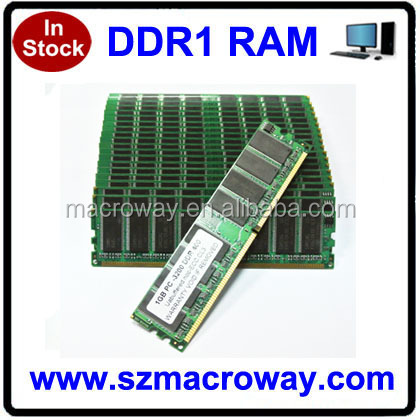 Brand new ddr 333 400 mhz 1gb memory ram with original chipset