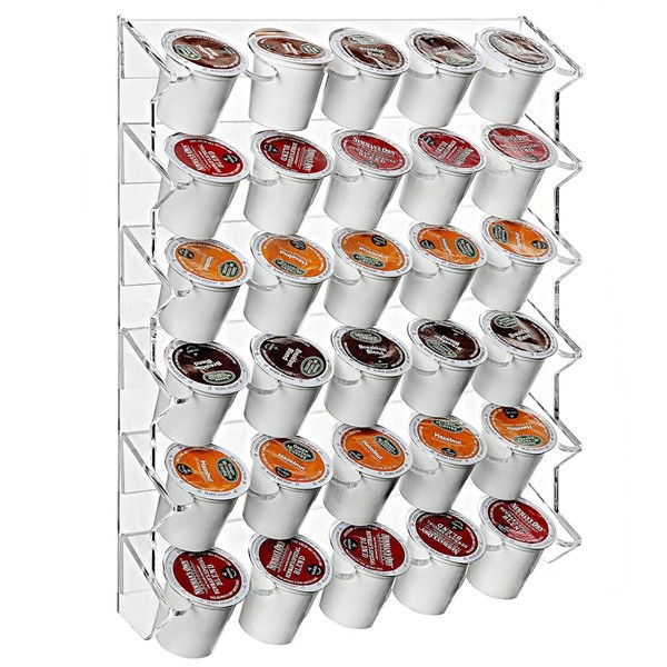2016 Shopping Wall Mounted 2-Rows Acrylic Paper Coffee Cup/Mug Rack Display Dispenser,Custom Coffee Mug Holder Rack Wholesale