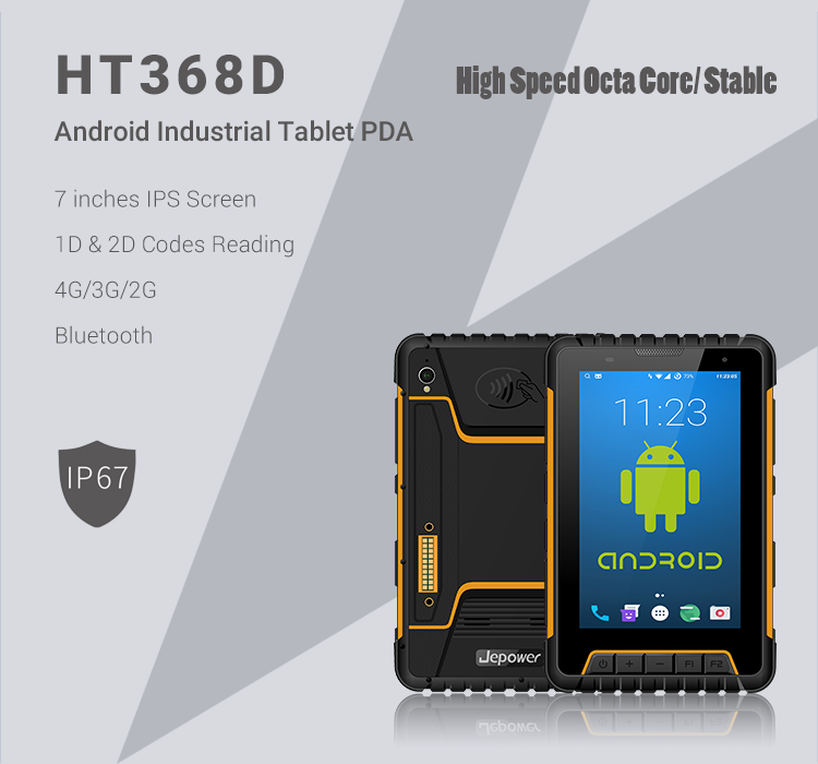 "Jepower HT368D 7.0"" Android Handheld Industrial Tablet"
