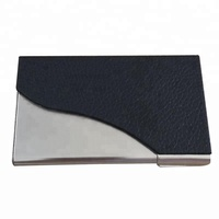 Mini Aluminium Alloy PU Portable Card case Card Holder