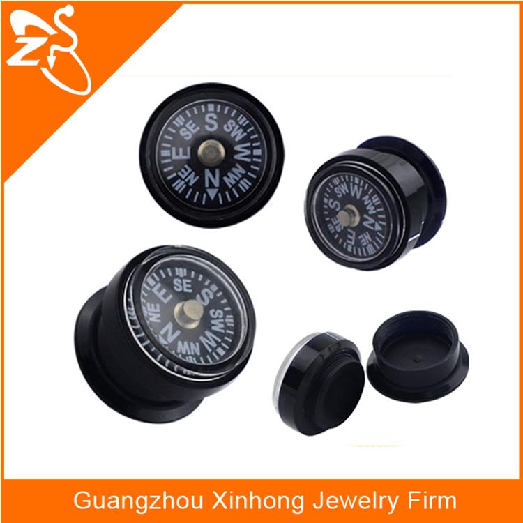 Compass Flesh Tunnel Tube Ear Plug,Acrylic Gauge Ear Plugs,Ear ...