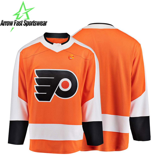 2018 New Coming Custom Sublimated Ice Hockey Jersey Long Sleeve Middle Thick