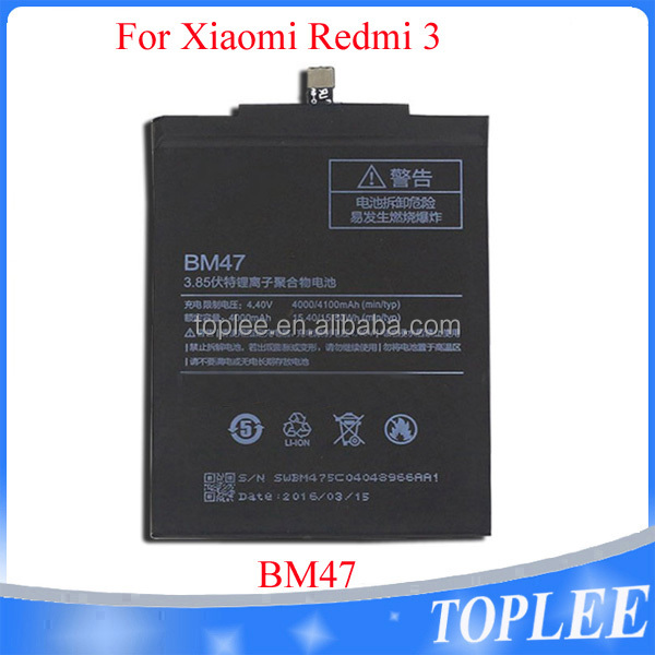 Clever Bm47 4000mah Battery For Xiaomi Redmi 3 3s 3x 4x Hongmi 3 3s 3x 4x Bateria Batterij Accumulator+tools Cheap Sales Mobile Phone Parts