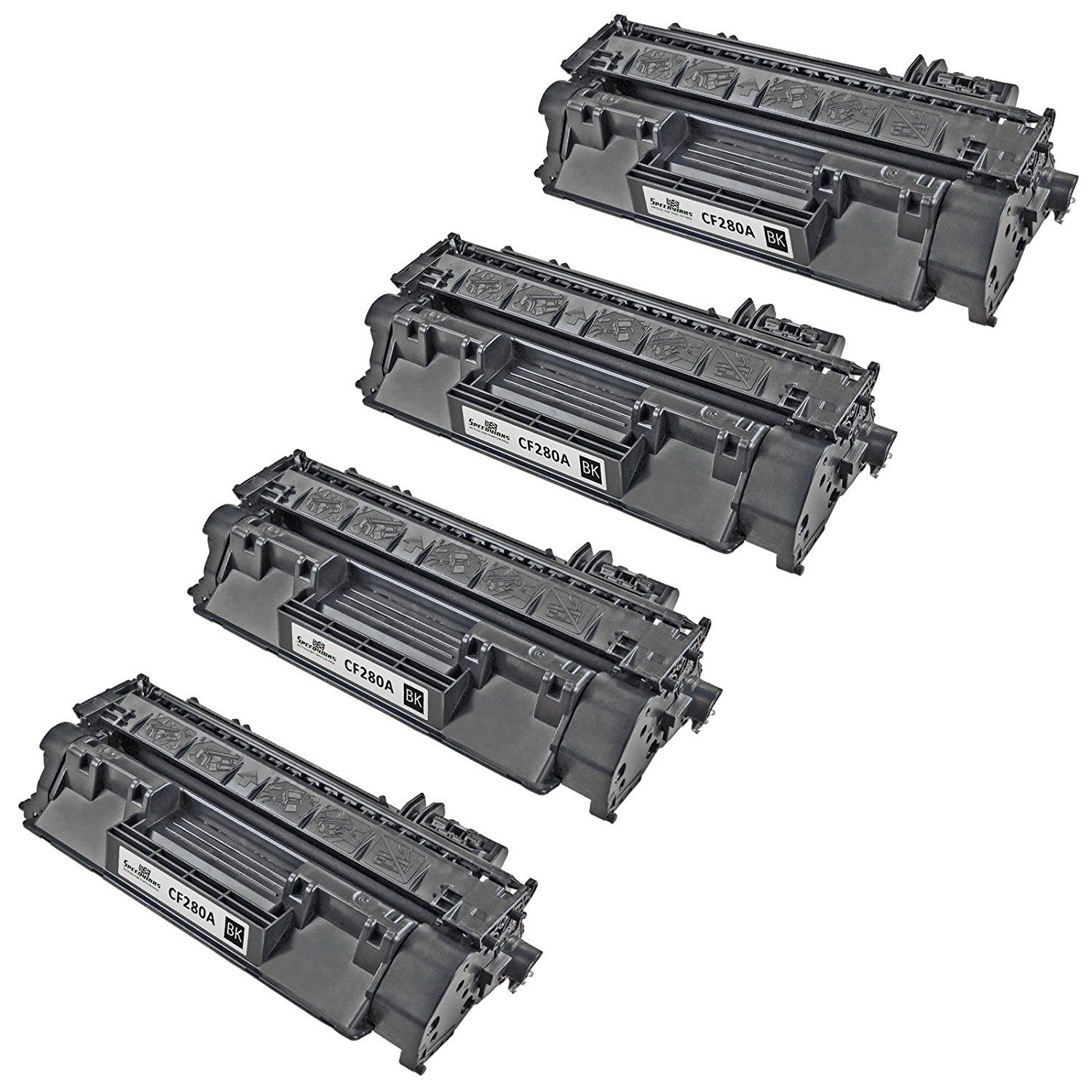 Speedy Inks - 4 Pack Compatible Replacement for HP 80A CF280A Black Laser Toner Cartridge for use in LaserJet Pro 400 M401dn, M401dne, M401dw, M401n, M425dn