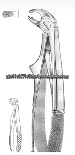 TOOTH EXTRACTING FORCEPS ENGLISH PATTERN KLEIN FOR CHILDREN FOR LOWER MOLARS # 6