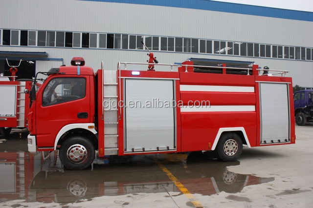 width of a fire truck for brand new dongfeng 4 ton water tank fire truck