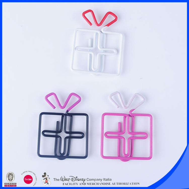 New idea box shaped two tone paper clip Christmas gifts