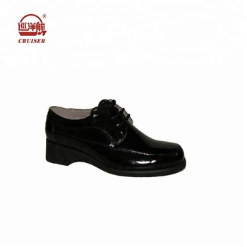 Ladies Black Patent Leather Police Office Shoes Boots Women - Buy ... ab0d92a8e0