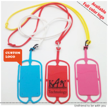 Universal Silicone Lanyard Cell Phone Neck strap Case Cover Holder Wrist Strap With ID Card Slot, Phone Holder & Wallet