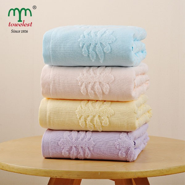 100% cotton edelweiss jacquard thicker bath towel