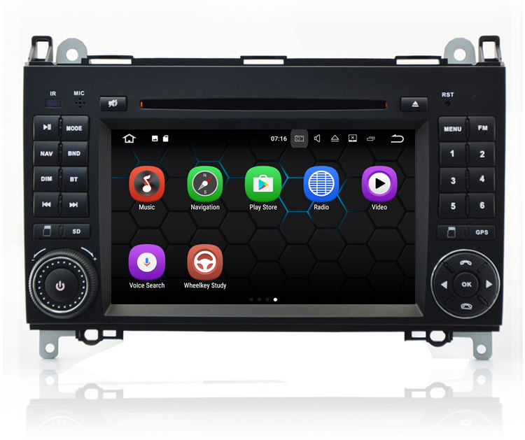 7'' Touch Screen Android 7.1 OS Car Radio Stereo Video Player For Benz B200 Sprinter Viano Vito With DVD GPS Navigation System